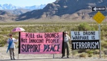 antiwar drone protest